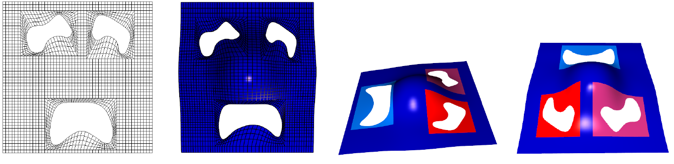 An example of parameter-aligned trimmed surface.