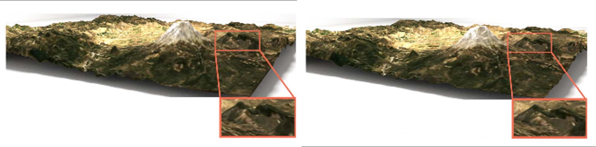 Application of PUPs multiresolution in terrain simplification.