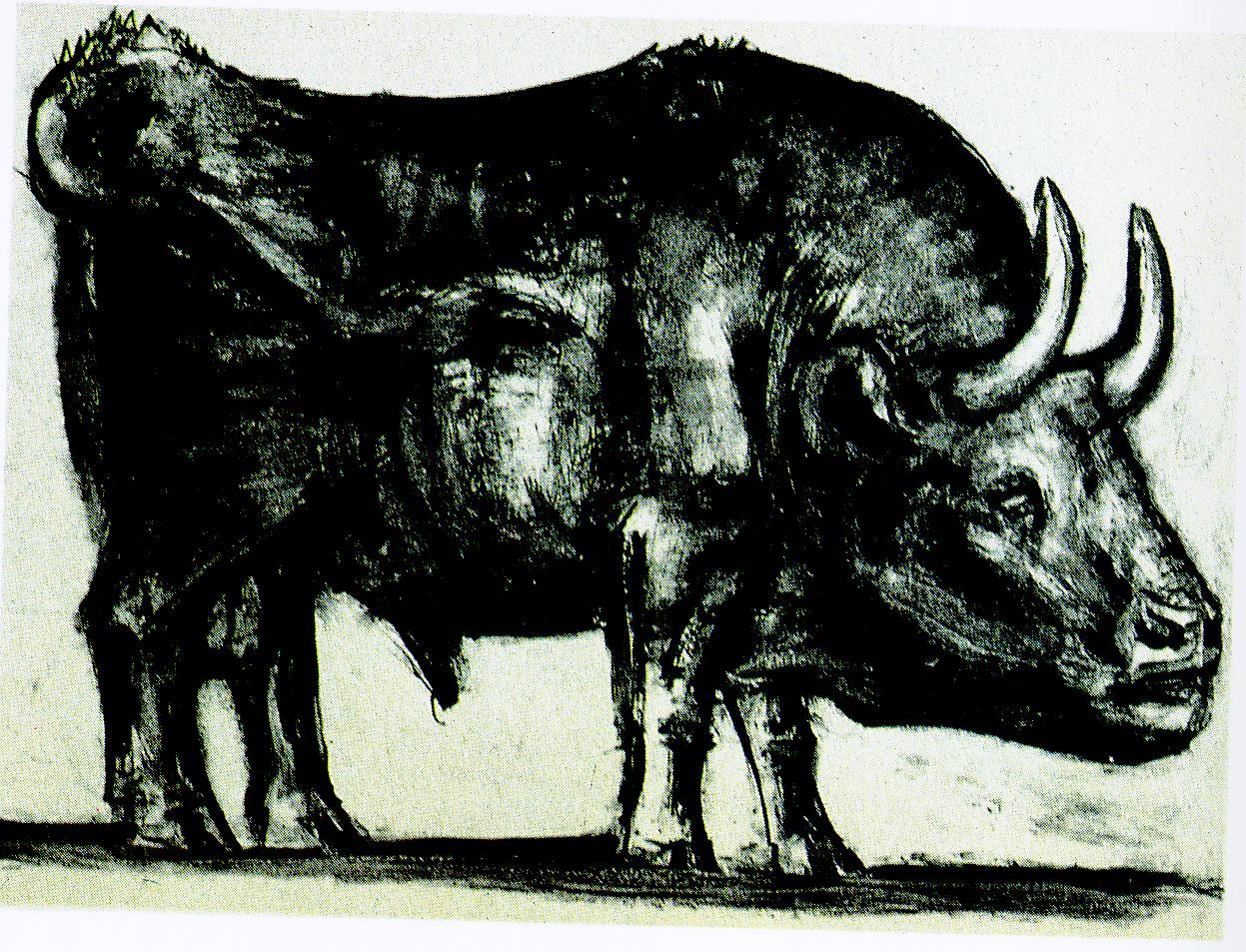 """毕加索的""""公牛""""系列画 放大版 11张图片"""