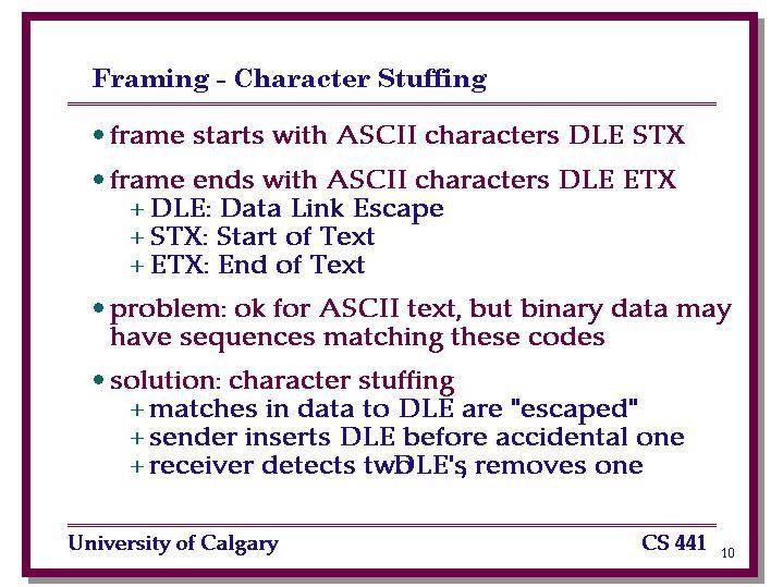 Framing - Character Stuffing